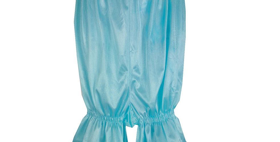 PTPH02D05 Aqua Blue New Nylon Pettipants Women Men Slips Lace Lingerie