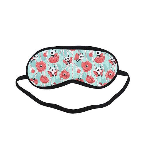 PTEM301 panda bear Rose Pattern Eye Printed Sleeping Mask