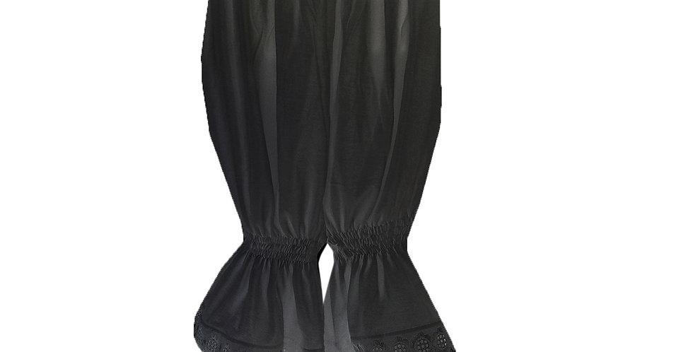 PCPH03P black Cotton Pettipants Women Slips Lace Lingerie Underwear
