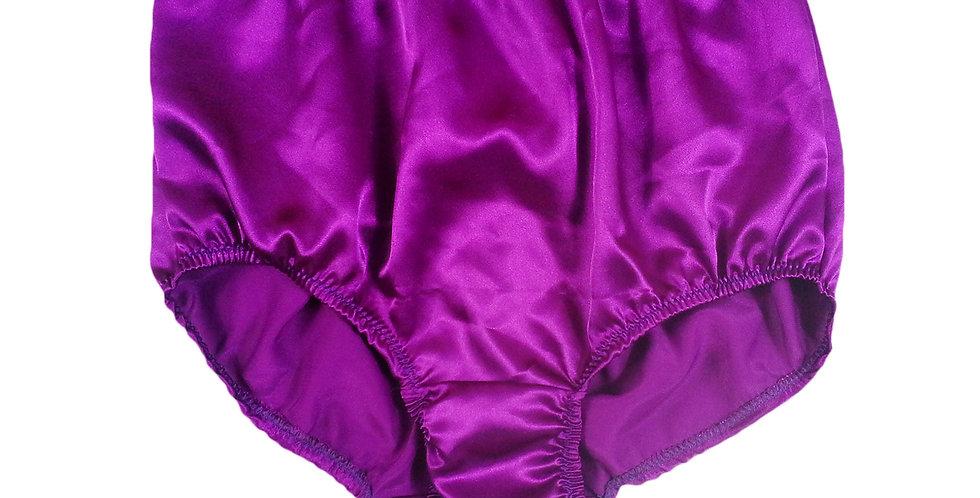 STP02 Deep Purple New Satin Panties Women Men Briefs Knickers