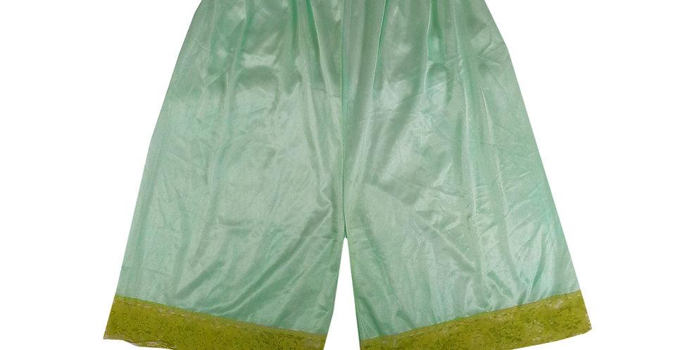 PTP14 olive green Silky Nylon Pettipants Women Men Slips Lace Lingerie
