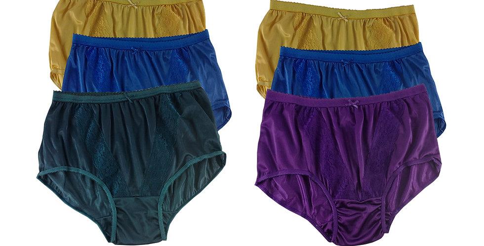 KJSJ58 Lots 6 pcs Wholesale New Panties Granny Briefs Nylon Men Women