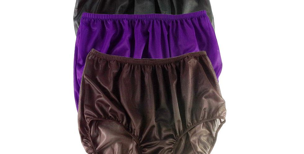 A19 Lots 3 pcs Wholesale Women New Panties Granny Briefs Nylon Knickers