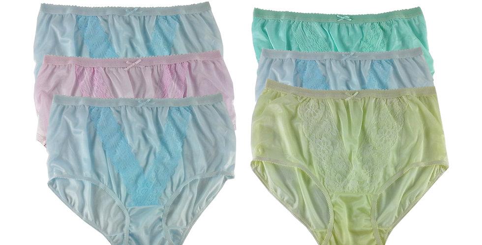 NLSG71 Lots 6 pcs Wholesale New Panties Granny Briefs Nylon Men Women