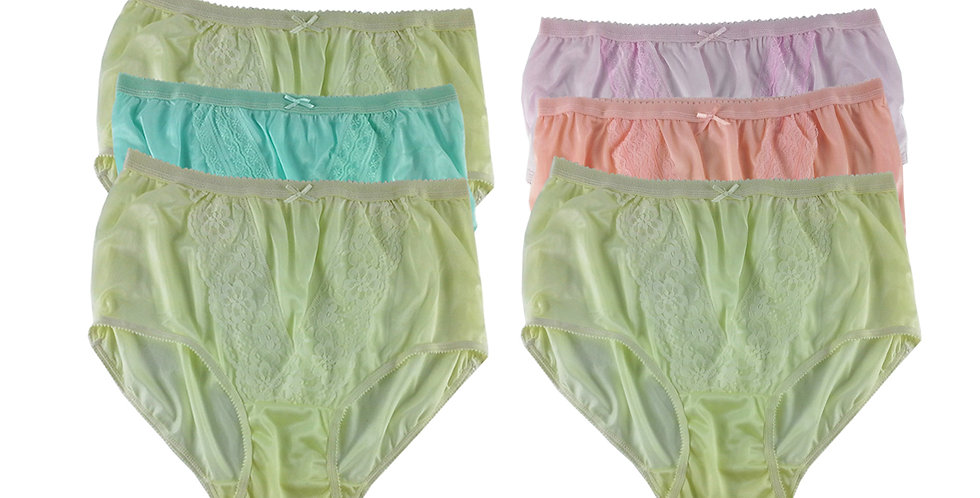 NLSG37 Lots 6 pcs Wholesale New Panties Granny Briefs Nylon Men Women