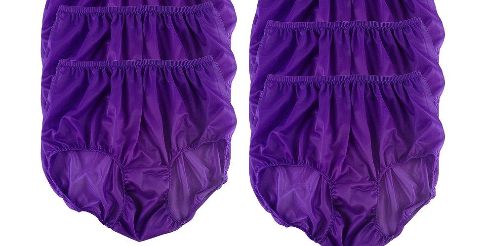 NSC11 Light Purple Lots 6 pcs Wholesale Women Panties  Briefs Nylon Lingerie