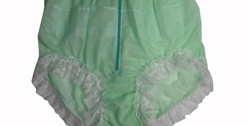 JYH09D01 Green Handmade Nylon Panties Women Men Lace Knickers Briefs