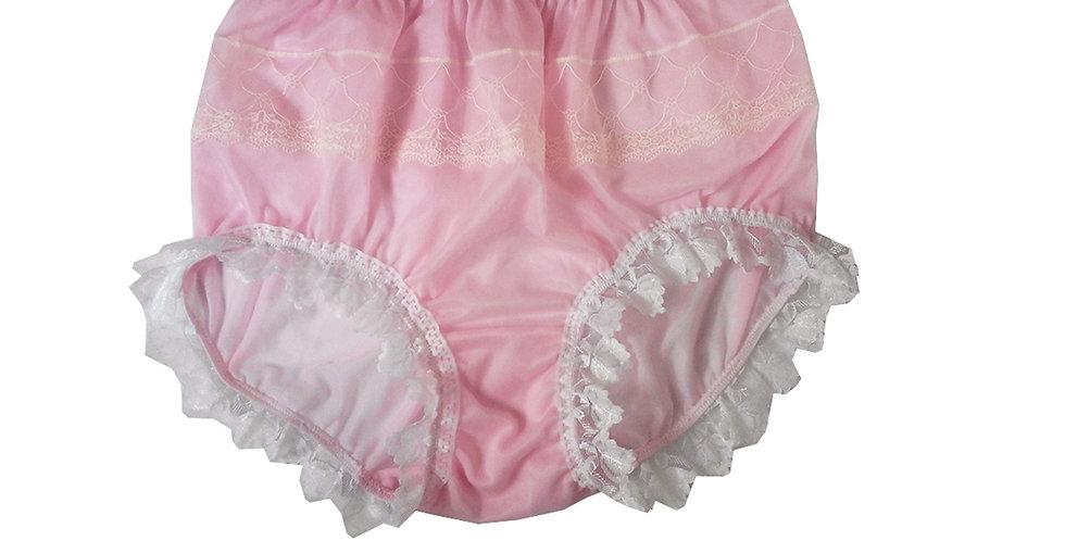 JYH24D07 Pink Handmade Nylon Panties Women Men Lace Knickers Briefs
