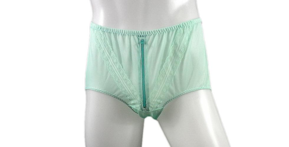 SSH03B03 green Handmade Nylon Panties Lace Women Granny Men Briefs