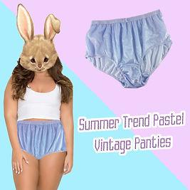summer trend pastel panties