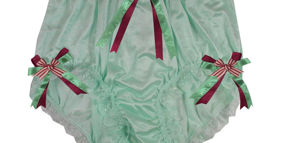 NQH11D03 green Handmade Panties Lace Women Men Briefs Nylon Knickers