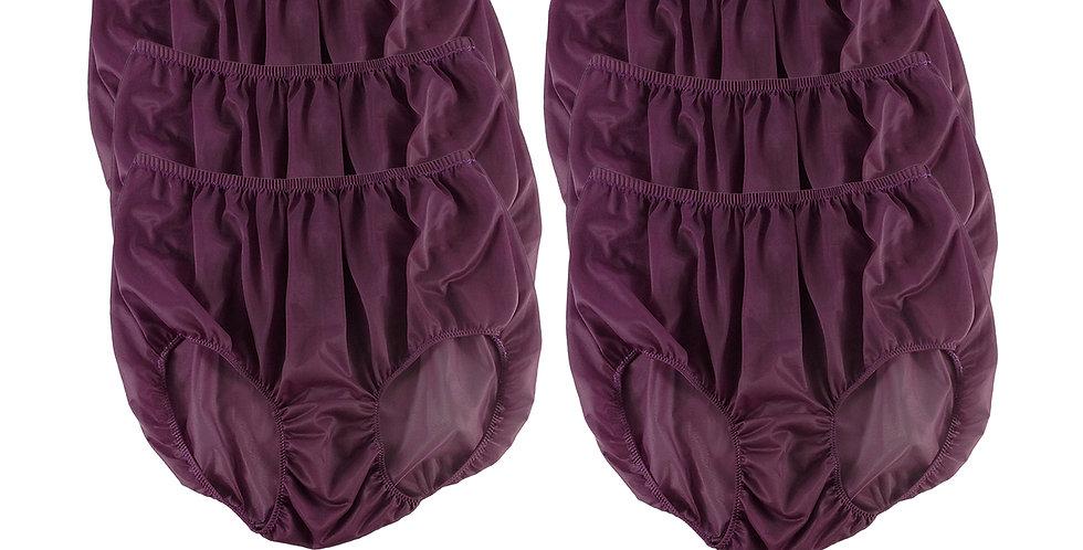 NSC10 Red-Violet Lots 6 pcs Wholesale Women Panties Granny Briefs Nylon Lingerie