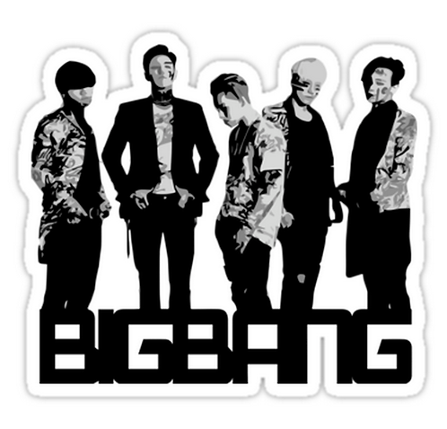 BIGBANG Grayscale Layers SSTK054 K-Pop Music Brand Car Window Decal Sticker