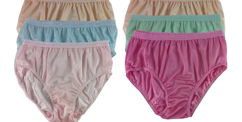 CKSL44 Lots 6 pcs Wholesale New Nylon Panties Women Undies Briefs