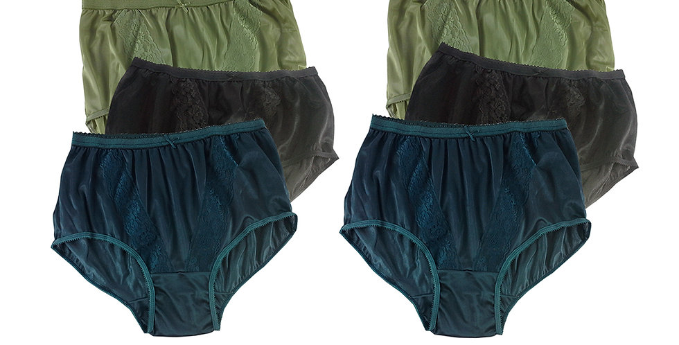 KJSJ61 Lots 6 pcs Wholesale New Panties Granny Briefs Nylon Men Women
