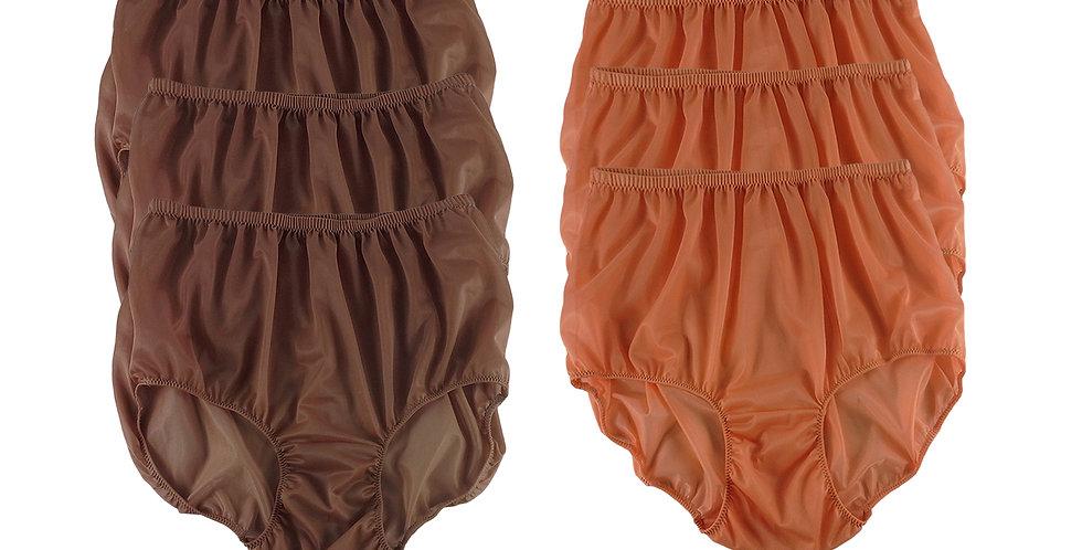 NSD87Lots 6 pcs Wholesale Women New Panties Granny Briefs Nylon Lingerie