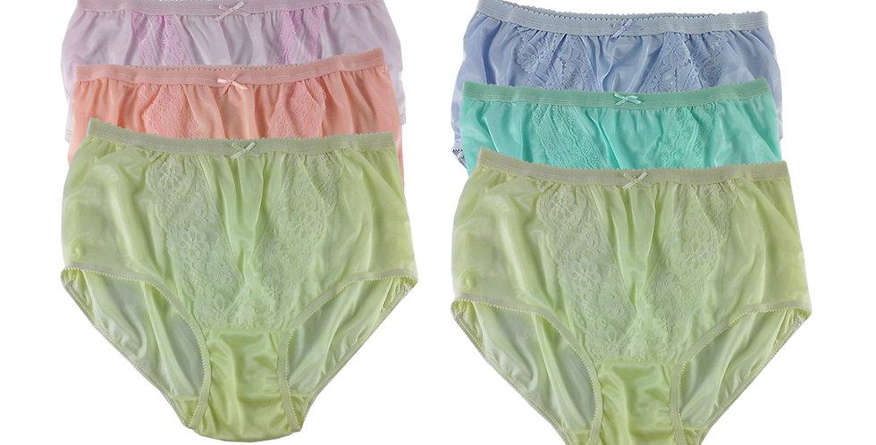 NLSG96 Lots 6 pcs Wholesale New Panties Granny Briefs Nylon Men Women