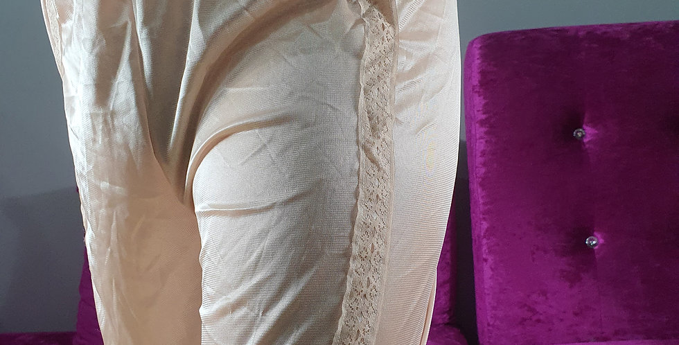 Brown Bloomer Pettipants Men Pinup Handmade Sheer Nylon Slip Strip Lacy NSLSS11
