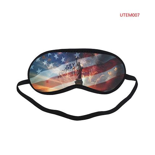 UTEM007 USA Flag Eye Printed Sleeping Mask