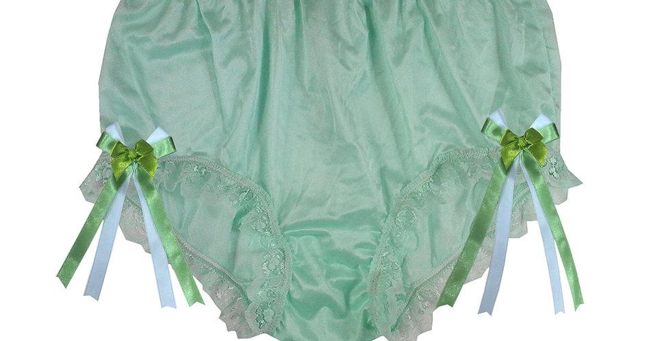 NYH17D07 Green Handmade New Panties Briefs Lace Sheer Nylon Men Women