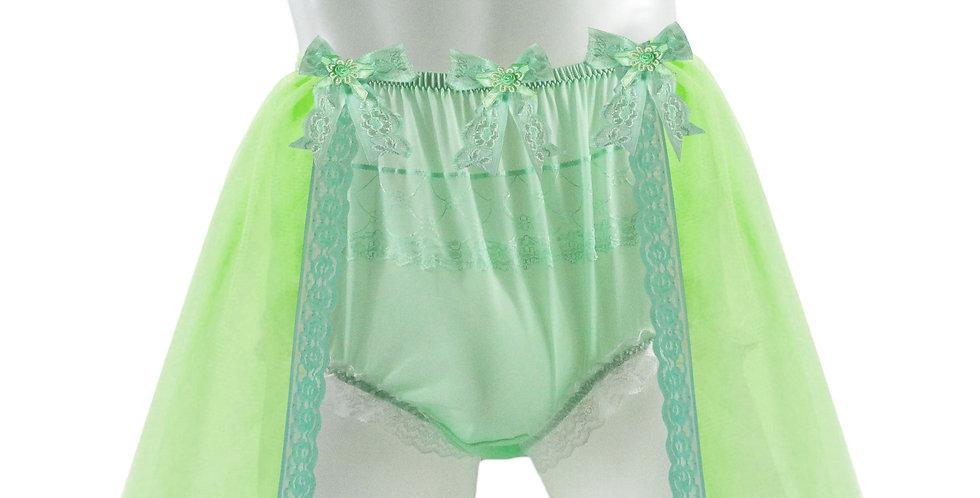 Green Sheer Nylon Briefs Mens Panties Handmade Costume Panty TINKERBELL FAIRY
