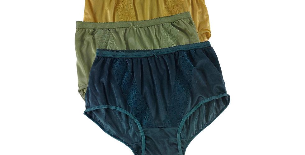 KJTK06 Lots 3 pcs Wholesale Panties Granny Lace Briefs Nylon Men Woman