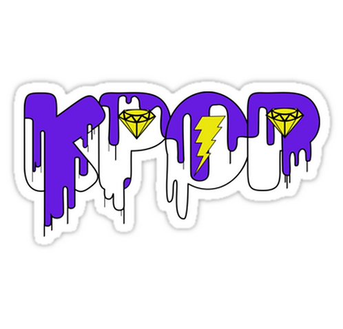 KPOP Drip Purple2 SSTK051 K-Pop Music Brand Car Window Decal Sticker