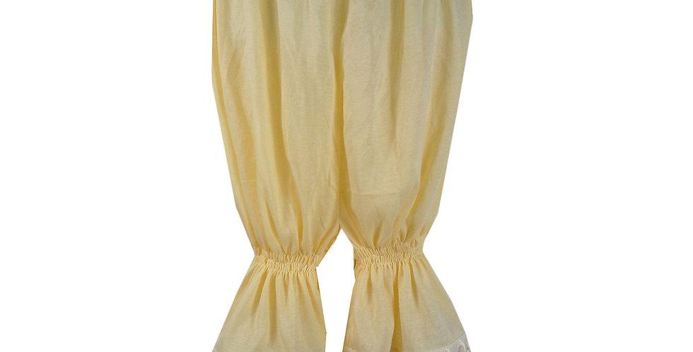 PCPH03P yellow Cotton Pettipants Women Slips Lace Lingerie Underwear