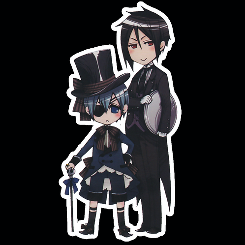 Anime Stickers Die-cut Car motorcycle laptops phone Truck wall BB27 Black Butler