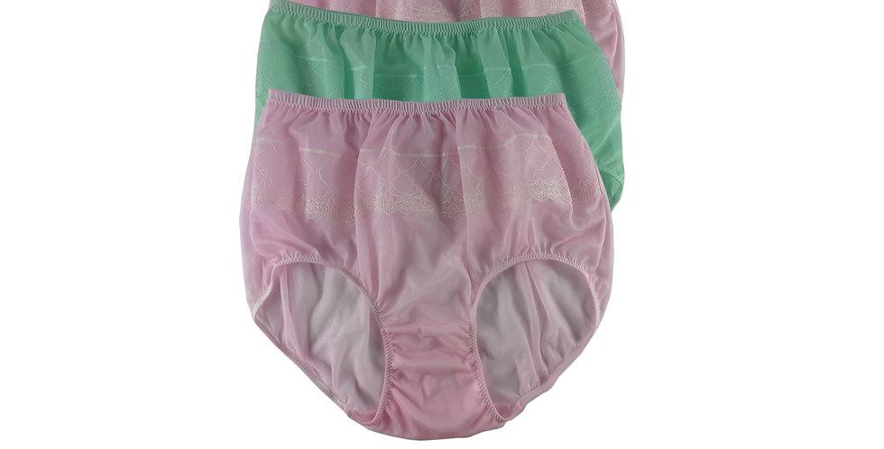 JYTB05 Lots 3 pcs Wholesale Nylon Panties Women Men Floral Briefs