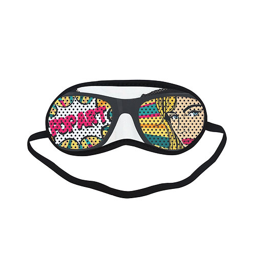 SPM044 Pop Art Glasses Eye Printed Sleeping Mask