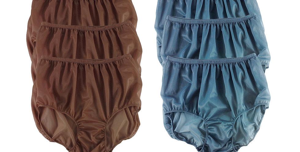 NSD91Lots 6 pcs Wholesale Women New Panties Granny Briefs Nylon Lingerie