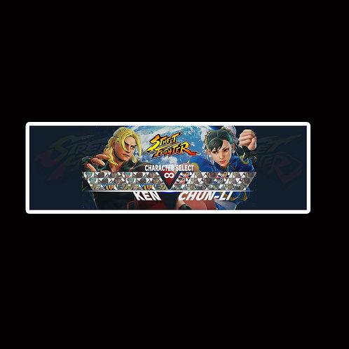Slap Stickers Anime Stickers Decals Helmet laptops SLSF15 Street Fighter Game