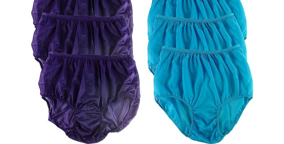 NSD43Lots 6 pcs Wholesale Women New Panties Granny Briefs Nylon Lingerie