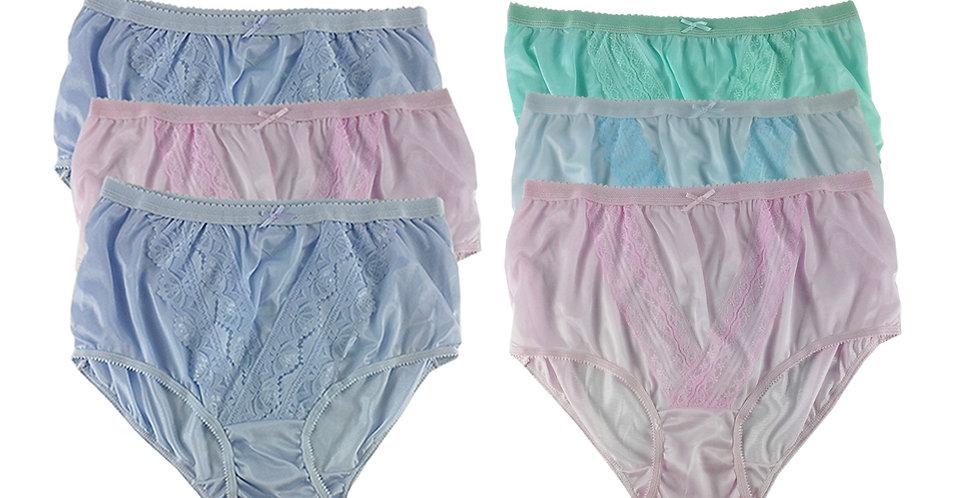 NLSG24 Lots 6 pcs Wholesale New Panties Granny Briefs Nylon Men Women