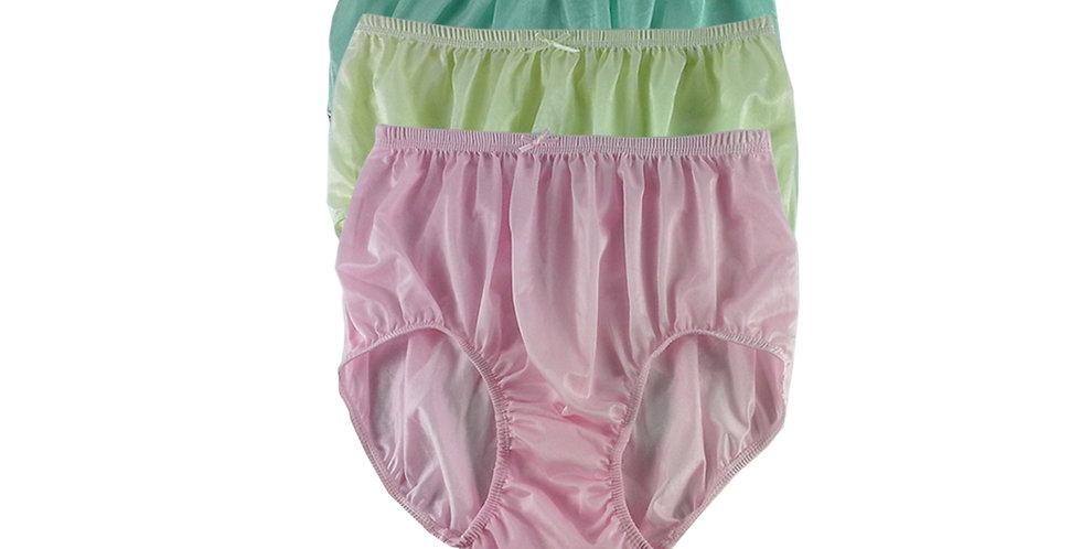 NQTD01 Lot 3 pcs Wholesale New Panties Granny Briefs Nylon Men Women Undies