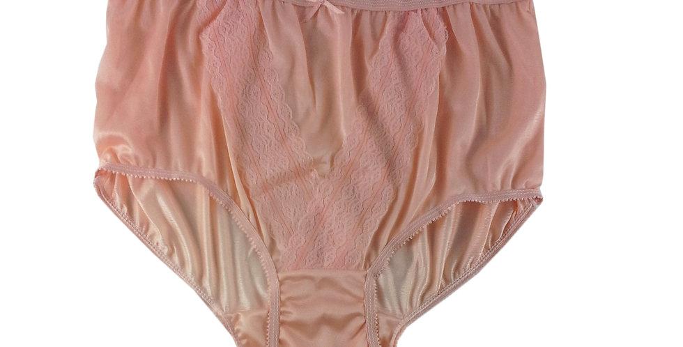 NL01 Orange New Panties Granny Lace Briefs Nylon Underwear Men Women