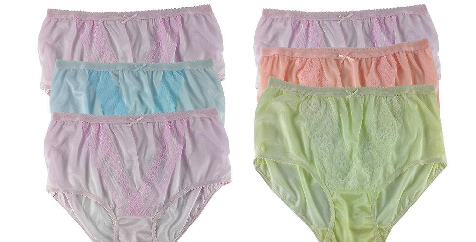 NLSG53 Lots 6 pcs Wholesale New Panties Granny Briefs Nylon Men Women
