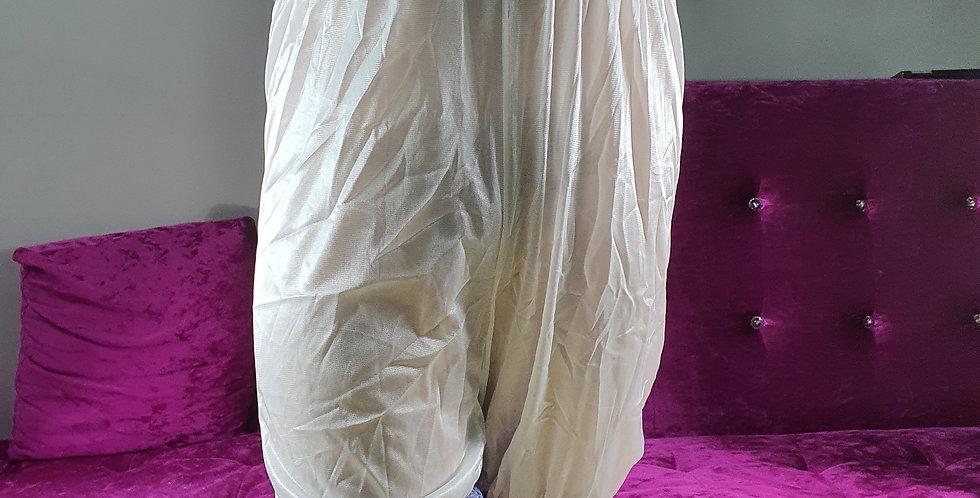 New Fair Orange Pettipants Men Handmade Underpants Nylon Slips Waist Lacy NSLR01