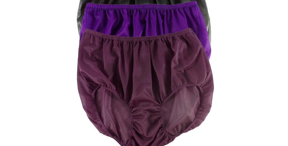A109 Lots 3 pcs Wholesale Women New Panties Granny Briefs Nylon Knickers