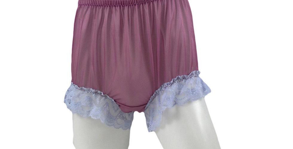 NNH05D06 Deep Pink Handmade Panties Lace Women Men Briefs Nylon Knickers