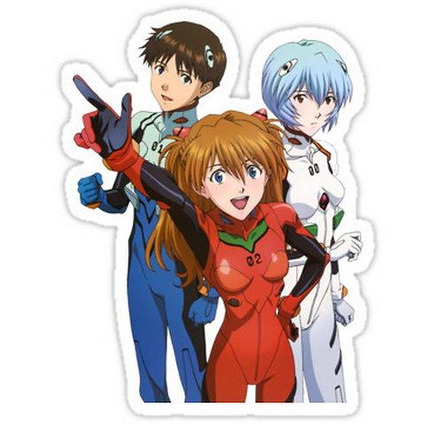 SRBB0505 neon genesis evangelion rei ayanami asuka soryu shinji  anime sticker