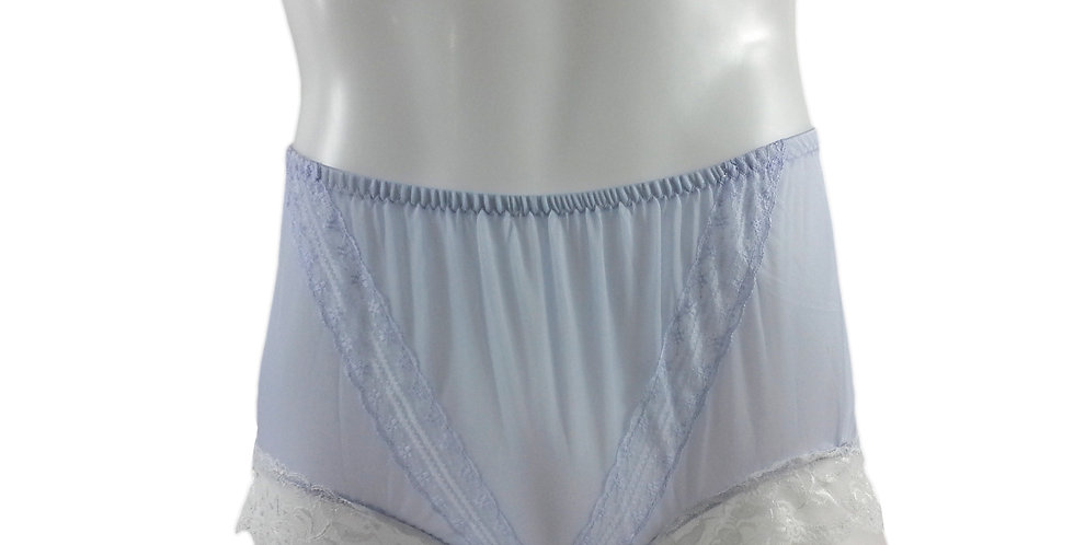 SSH01D07 Purple Handmade Nylon Panties Lace Women Granny Men Briefs