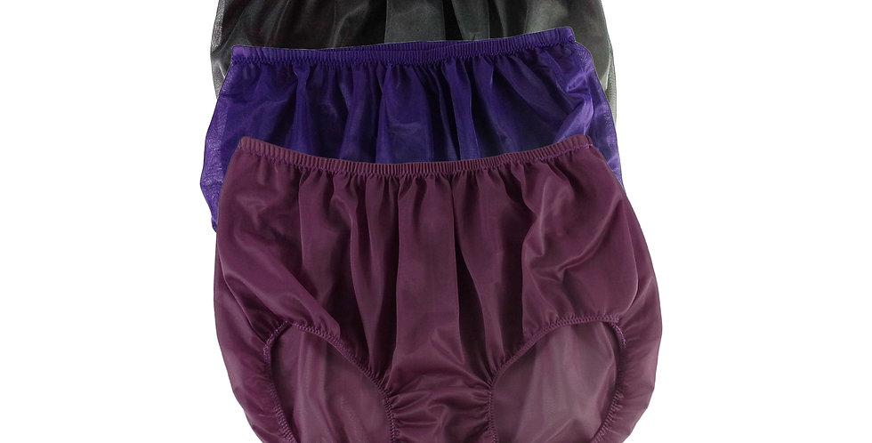 A10 Lots 3 pcs Wholesale Women New Panties Granny Briefs Nylon Knickers