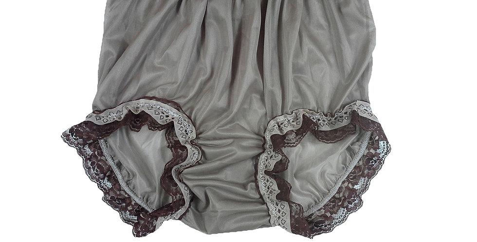 NNH05D11 khaki Handmade Panties Lace Women Men Briefs Nylon Knickers