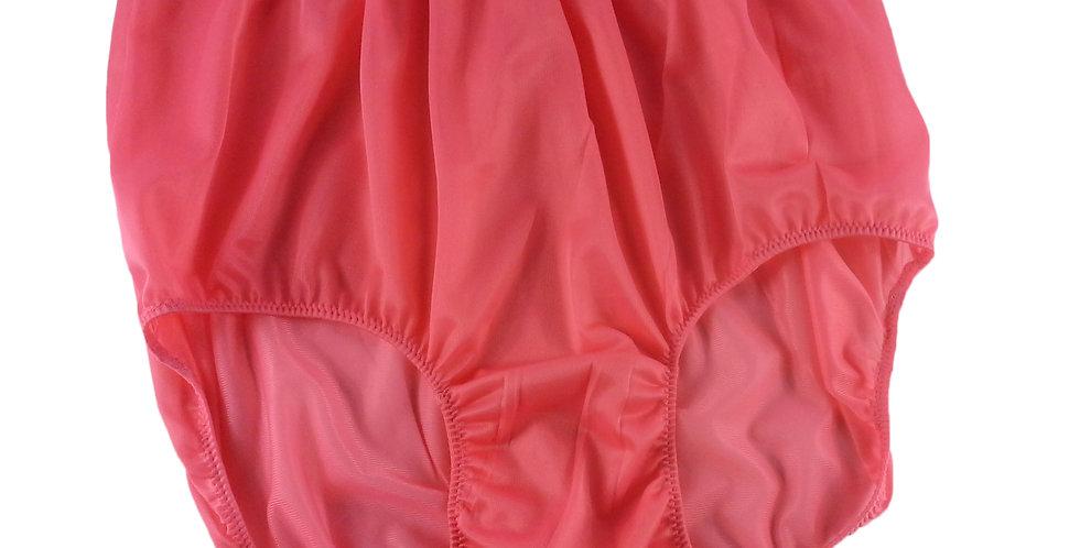 NN06 Light Pink Women Vintage Panties Granny HI-CUTS Brief Nylon Knickers