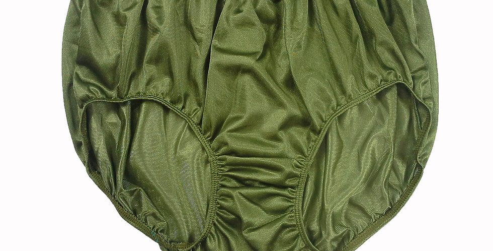 JR10 Olive Green Half Briefs Nylon Panties Women Men Knickers