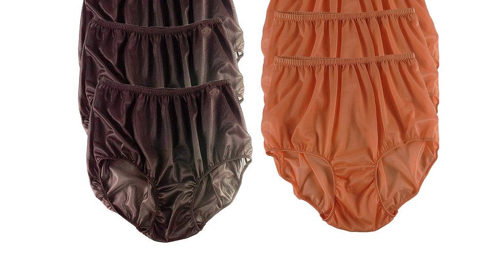 NSD27Lots 6 pcs Wholesale Women New Panties Granny Briefs Nylon Lingerie
