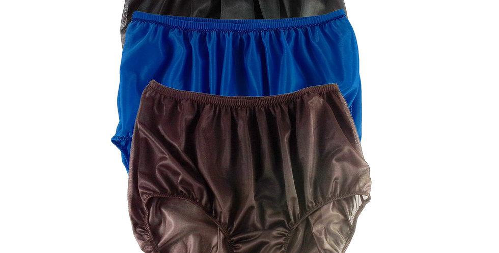 A23 Lots 3 pcs Wholesale Women New Panties Granny Briefs Nylon Knickers