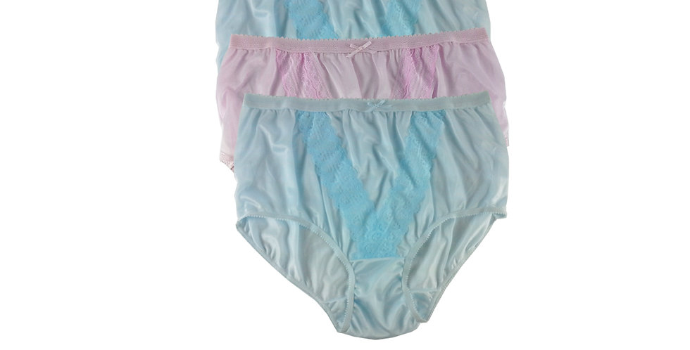NLTH17 Lots 3 pcs Wholesale Panties Granny Lace Briefs Nylon Men Woman